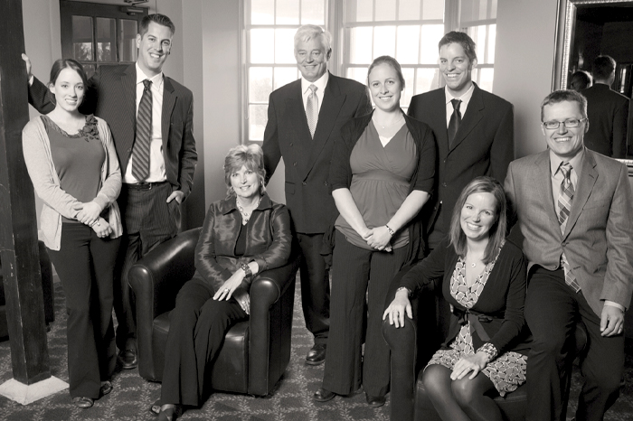 Group portrait of Haessler family