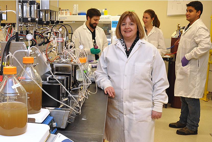 women in lab coat