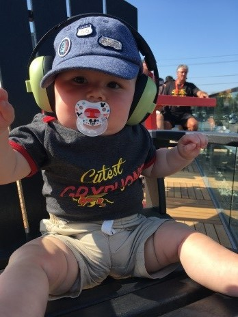 Jackson Horne, Future Gryphon and son of UGAA Board Member Richard Horne, attends his first of many UGAA events
