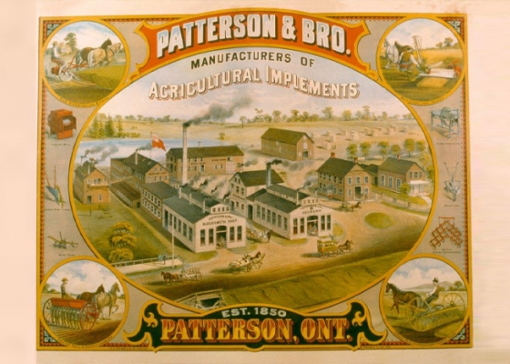 Old poster for Patterson and Brothers
