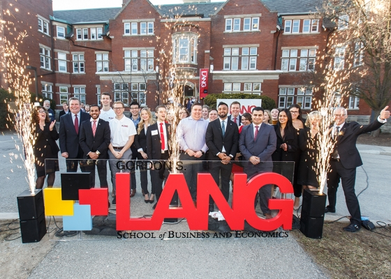Lang School of Business and Economics Group Photo