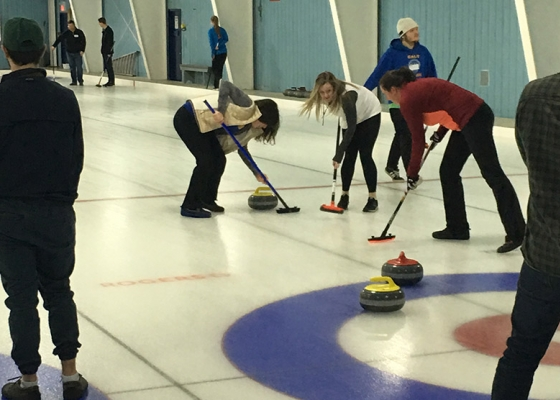 students curling