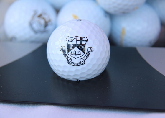 golf ball with oac logo