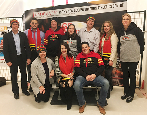 UGAA Board Members Name-A-Seat in the New Events Centre
